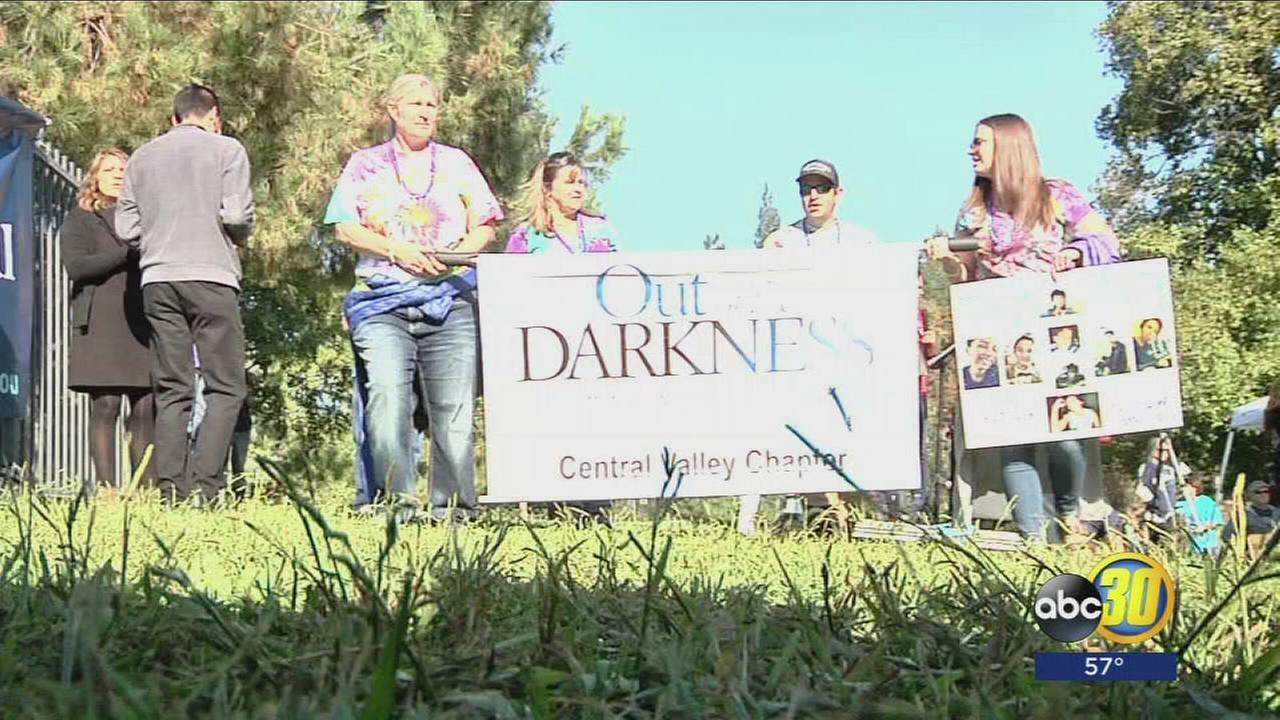 Hundreds of people hit the streets of Northwest Fresno to help stop suicide