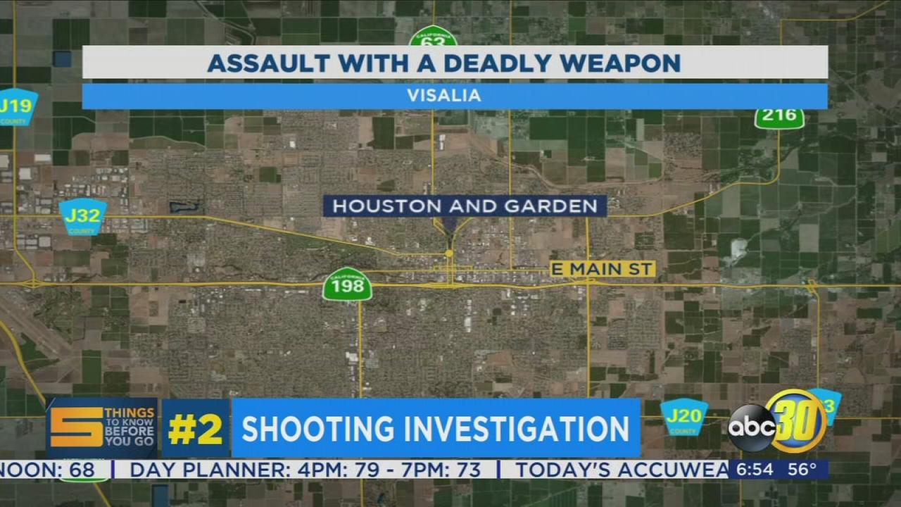 Visalia Police investigating shooting that sent one person to the hospital