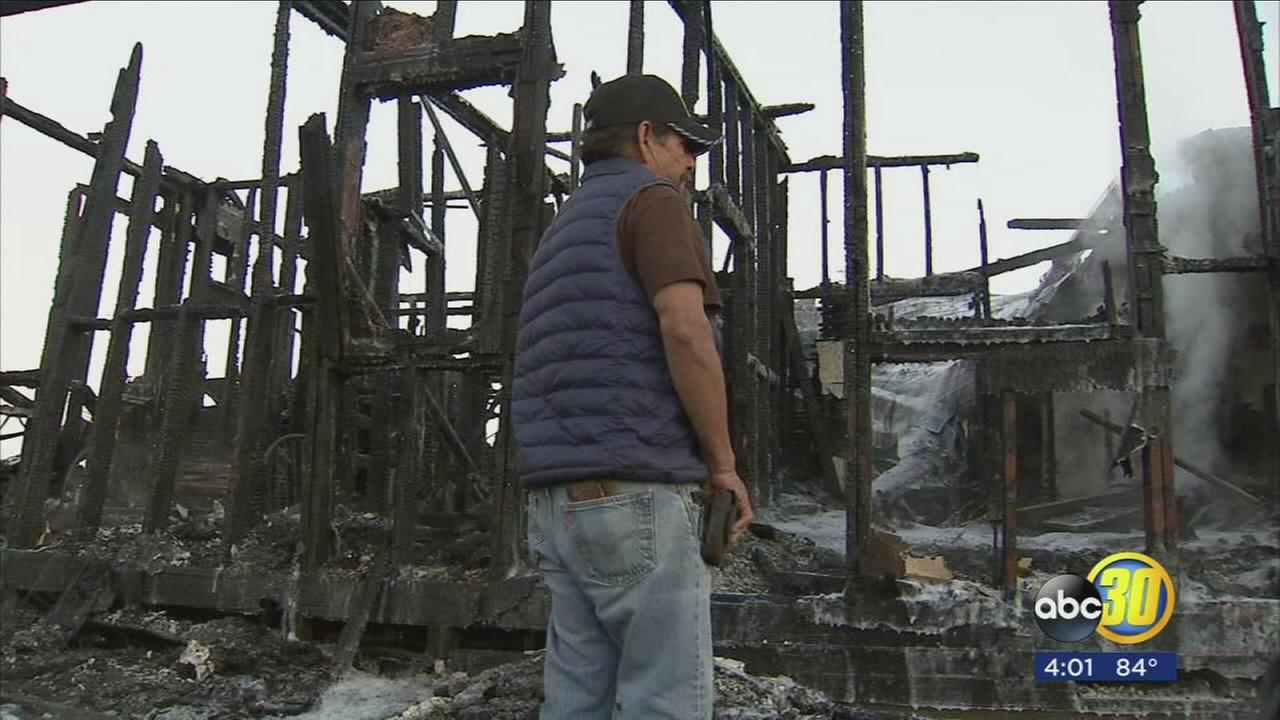 Devastating fire in Hanford Tuesday morning leaves nothing but ash