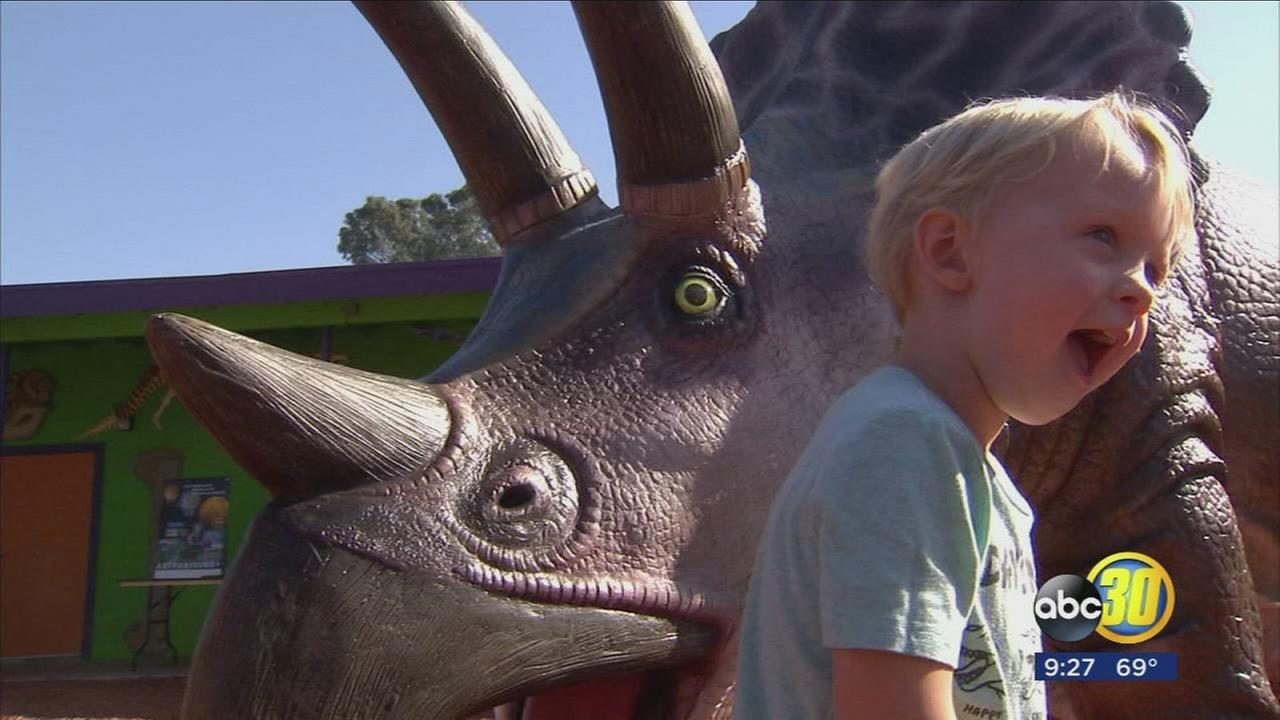 Fresnos Discovery Center Museum unveiled two new dinosaur replicas Saturday