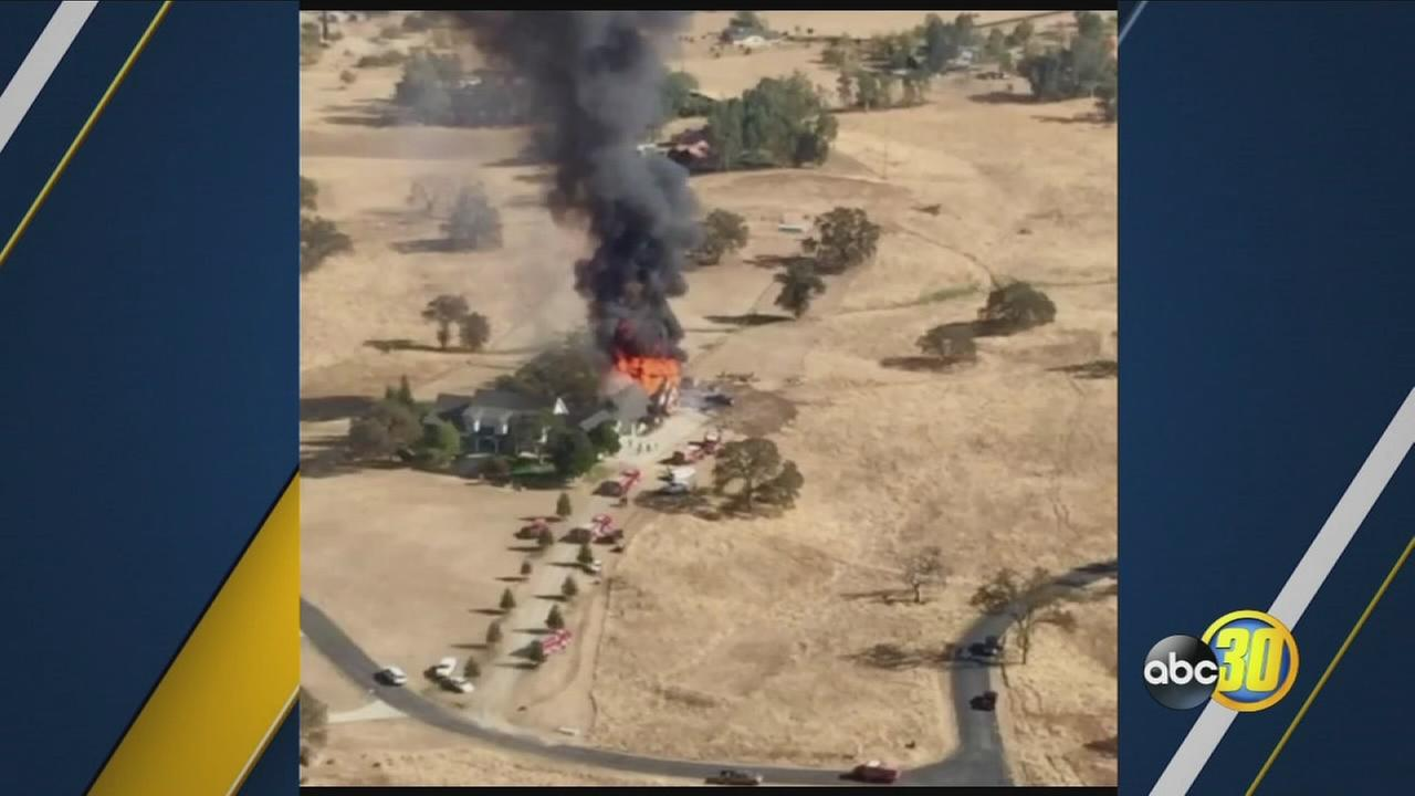 House fire in Prather near Hwy 168 and Mallard Meadows