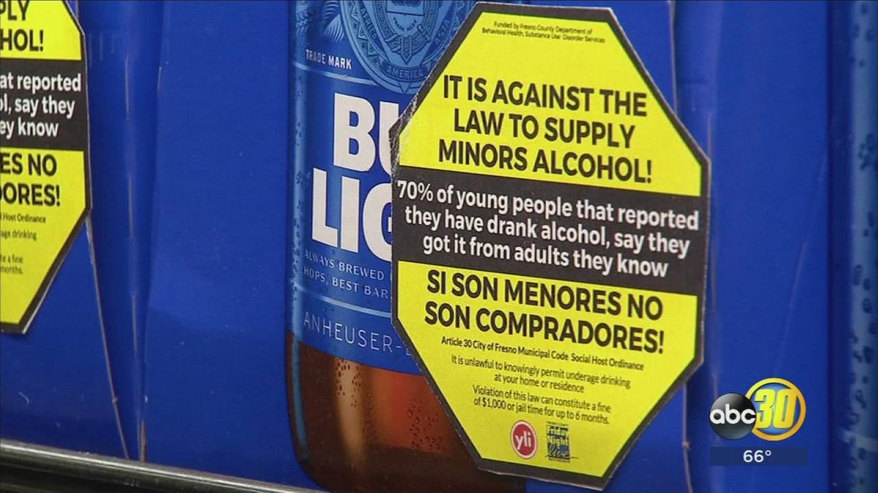 The Sticker Shock campaign educates our community about underage alcohol abuse