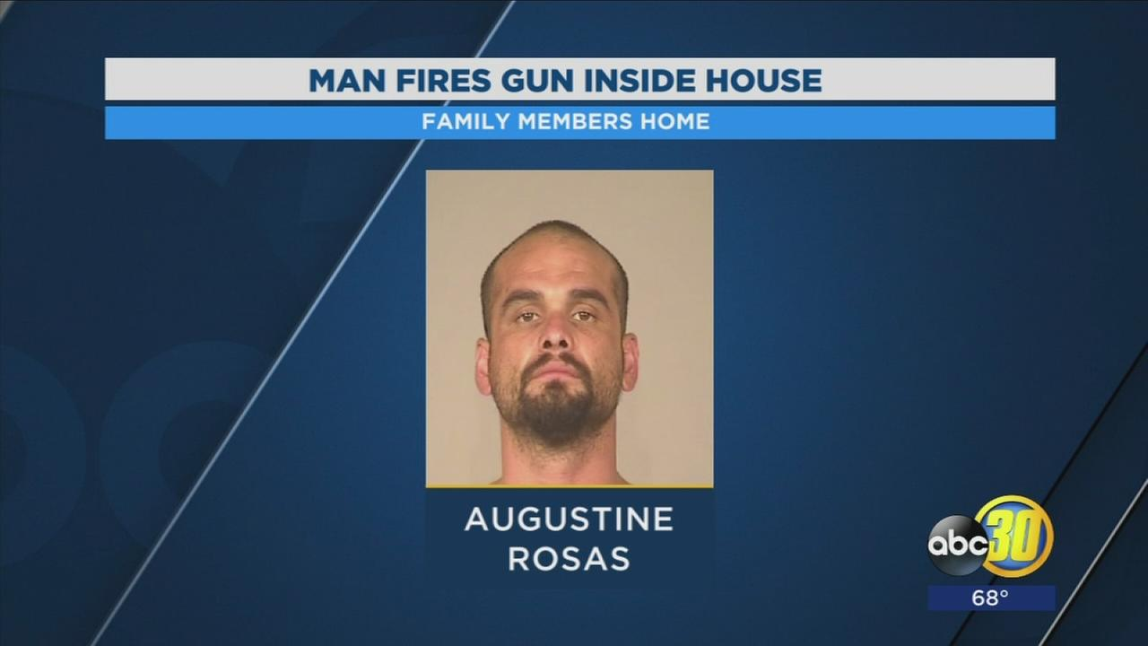 Felon arrested after allegedly firing a gun inside their home