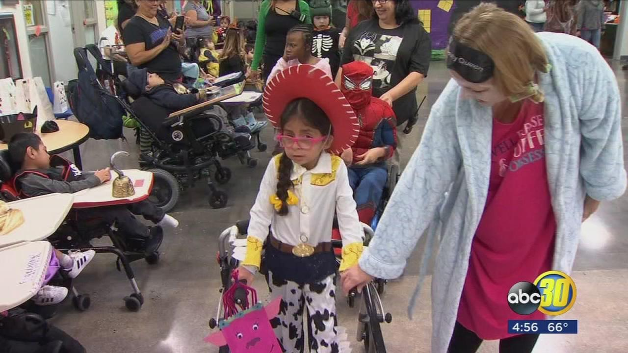 A special Halloween celebration for students at Addicott Elementary School