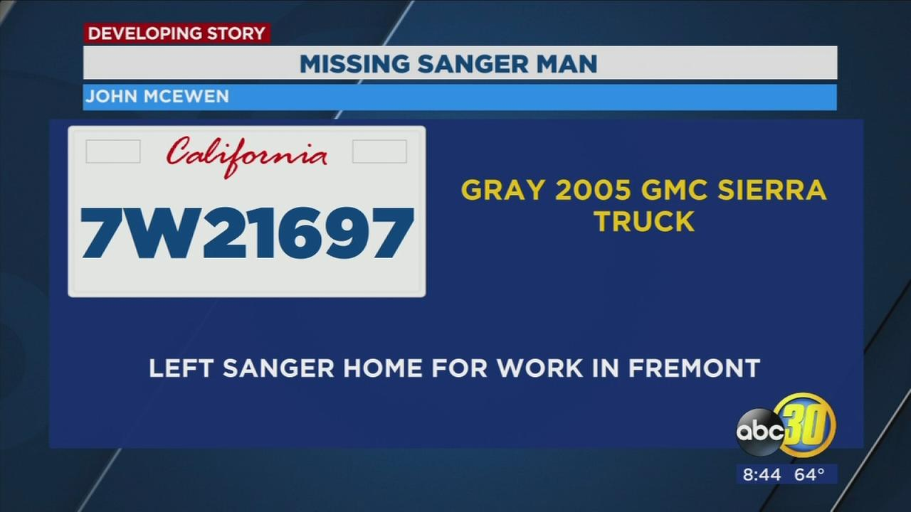 Sanger man missing