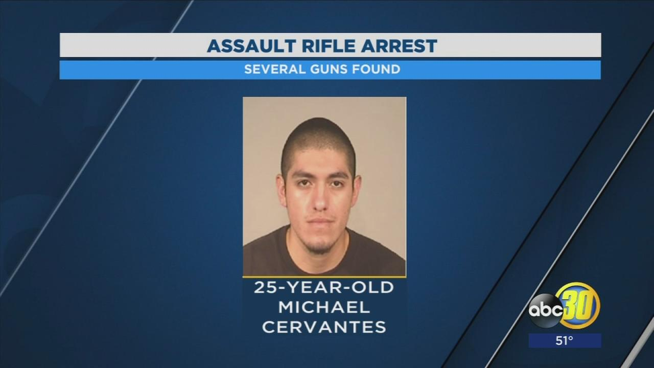 Man arrested in Southeast Fresno with an assault rifle
