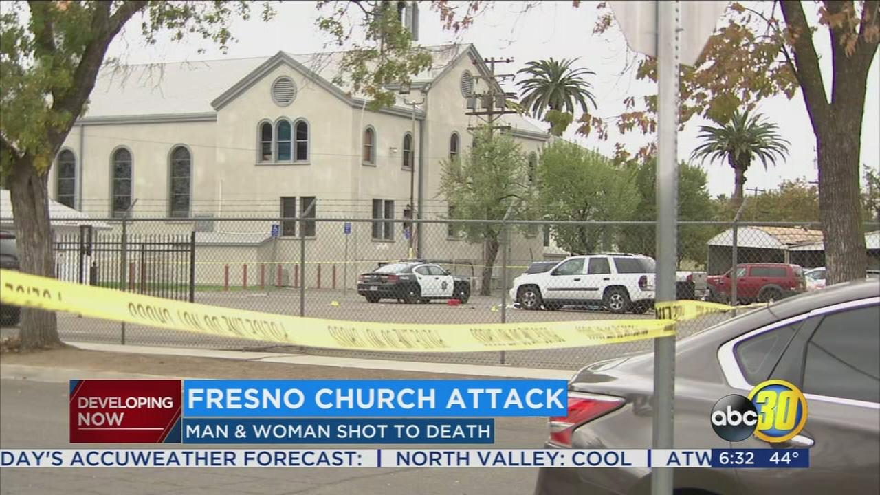 Woman and man killed in shooting outside of Southwest Fresno church