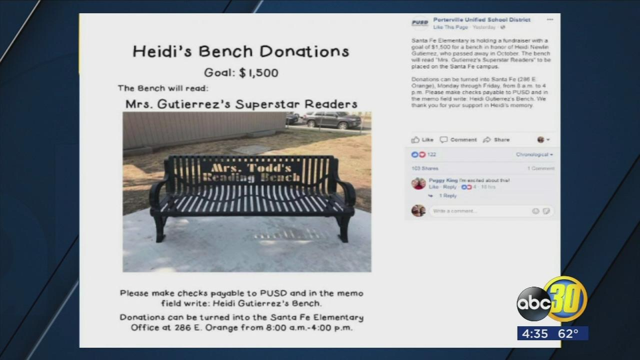 Elementary school in Porterville  raising money to honor teacher who recently passed away