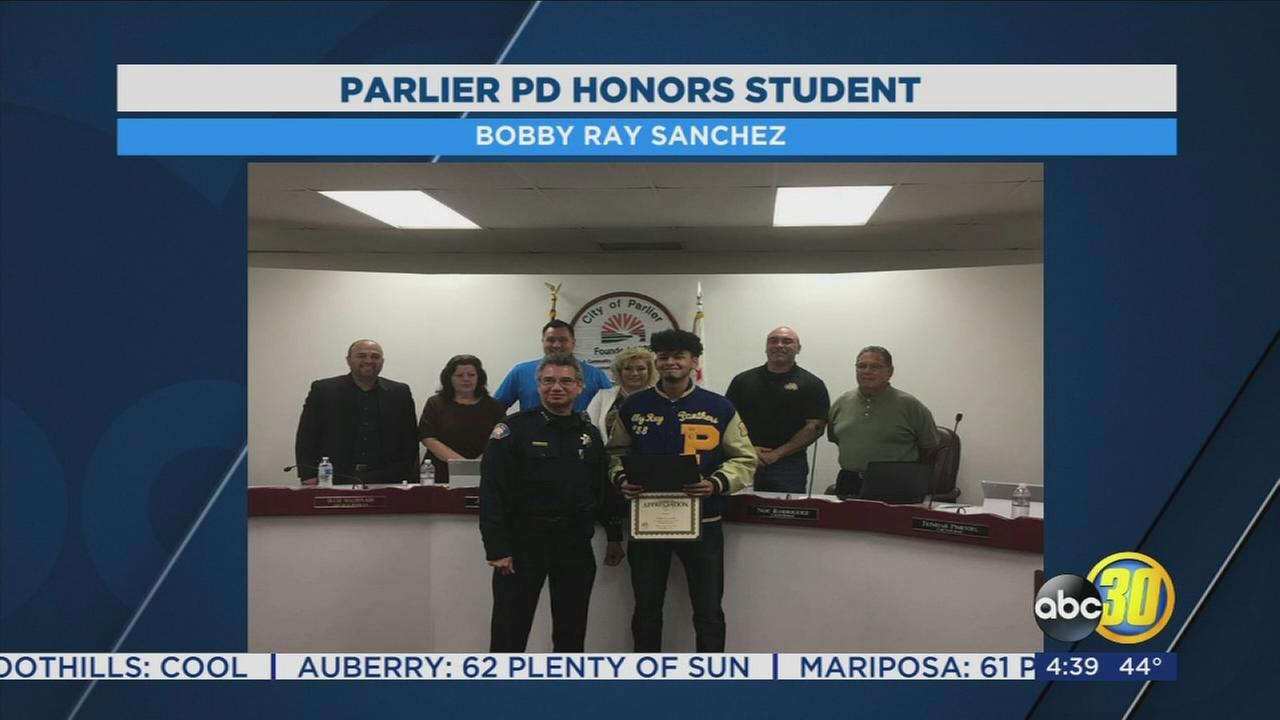 Parlier High student honored as hero by police for saving elementary student