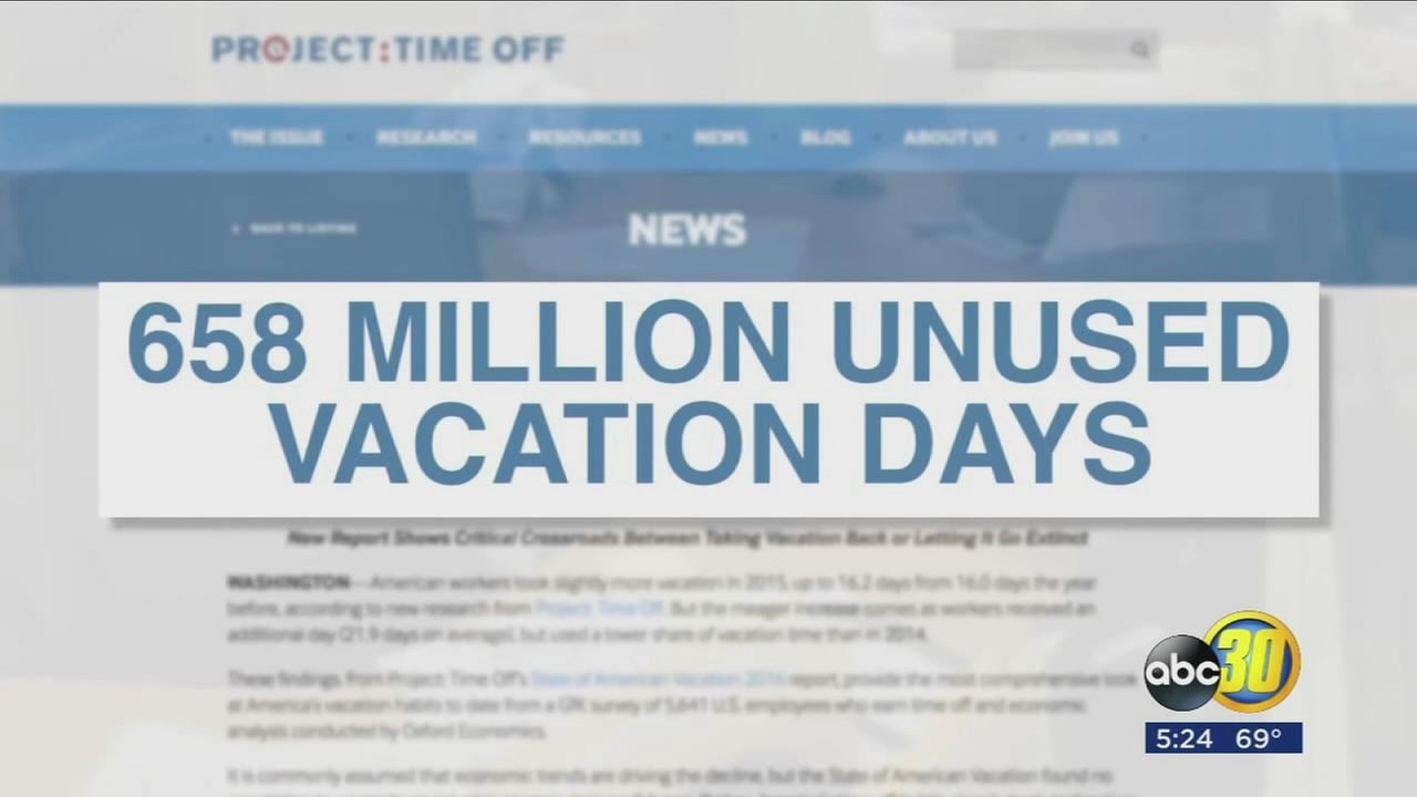 Studies show Americans leave a large amount of vacation time on the table every year