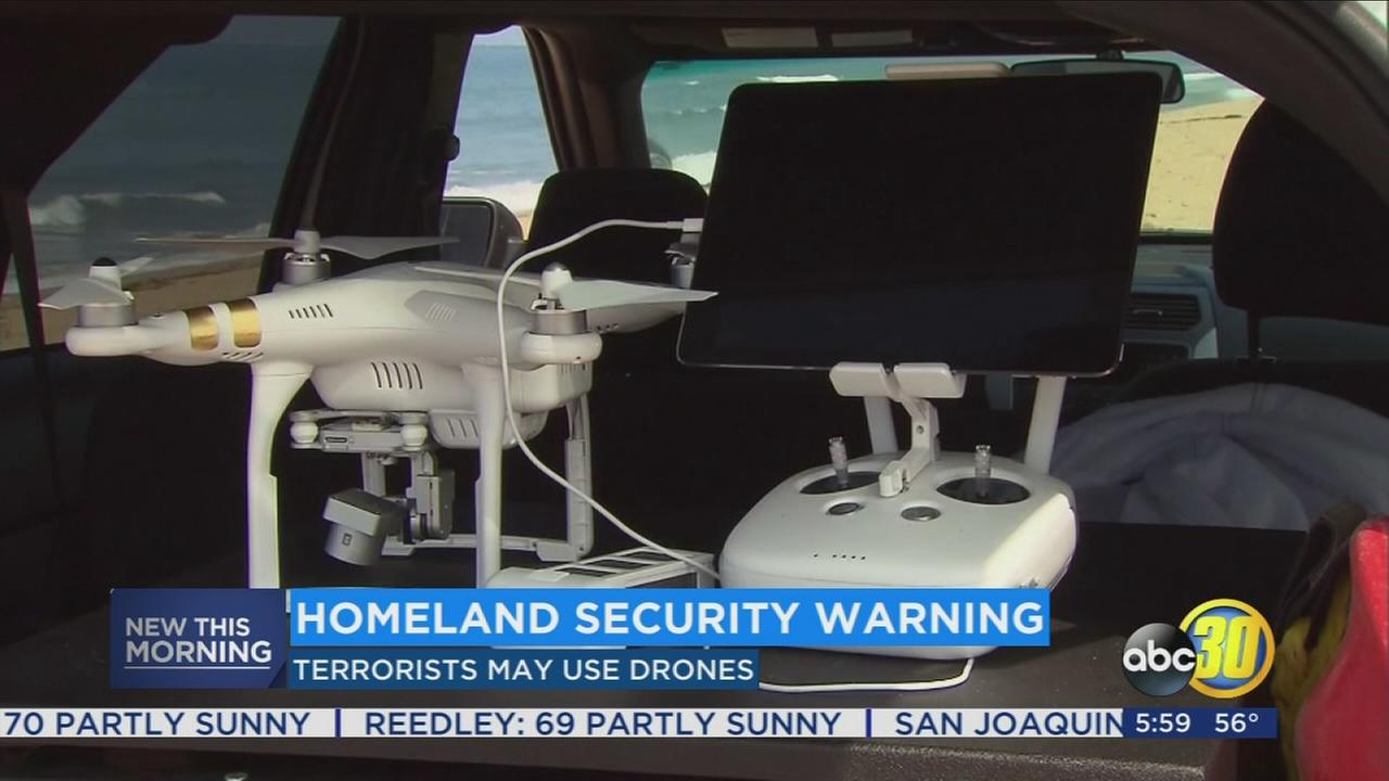 Department of Homeland Security warns that terrorists may start using drones to carry out attacks