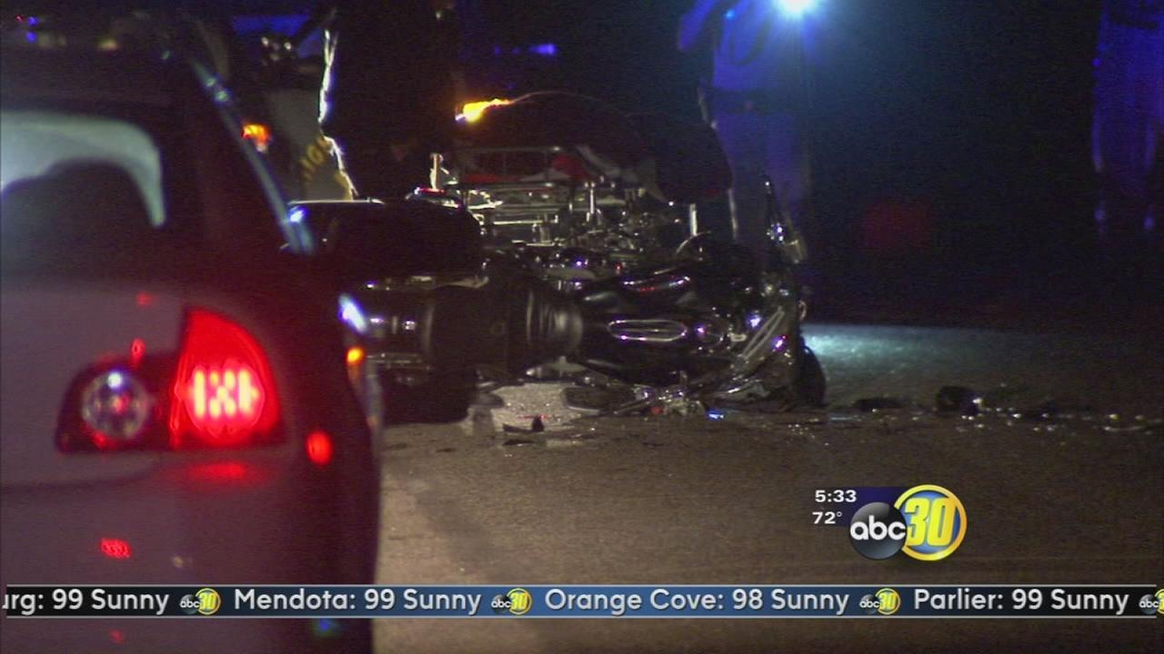 Motorcycle rider killed in crash near Kerman