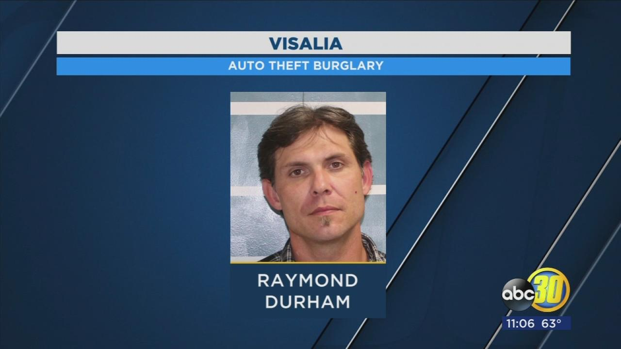 Man in custody after Visalia Police find him with several stolen items
