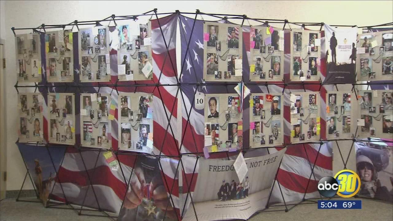 The cost of freedom is on display in Clovis this Veterans Day