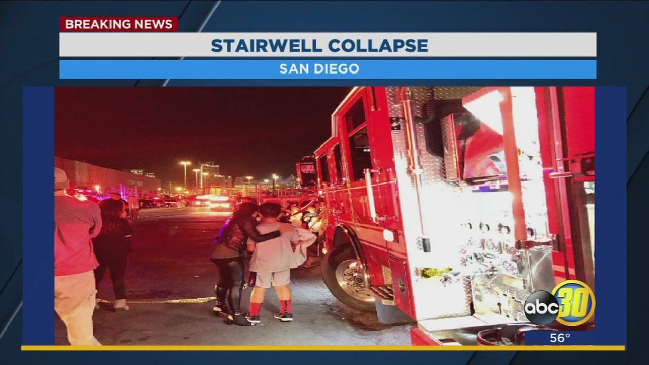 At least 20 kids injured after stairwell collapses at San Diego paintball center