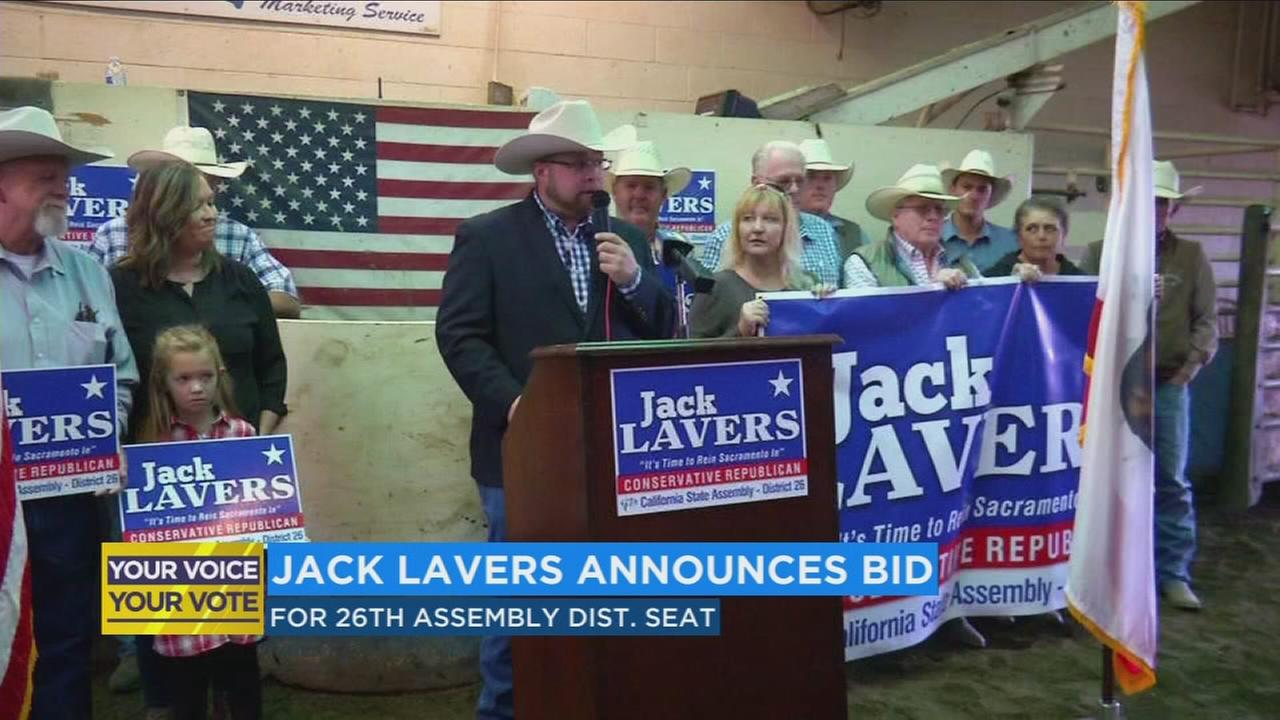 Jack Lavers announces bid for 26th Assembly District