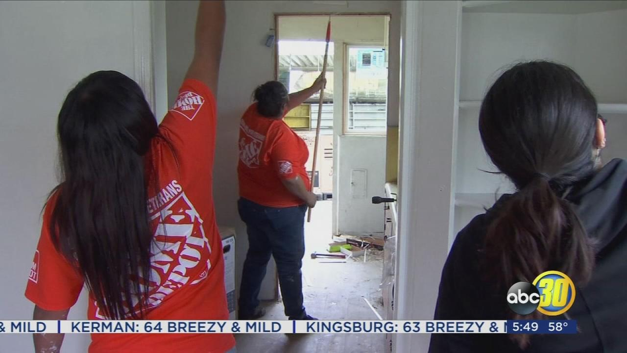 Volunteers help repair veterans home after it was vandalized while he was hospitalized