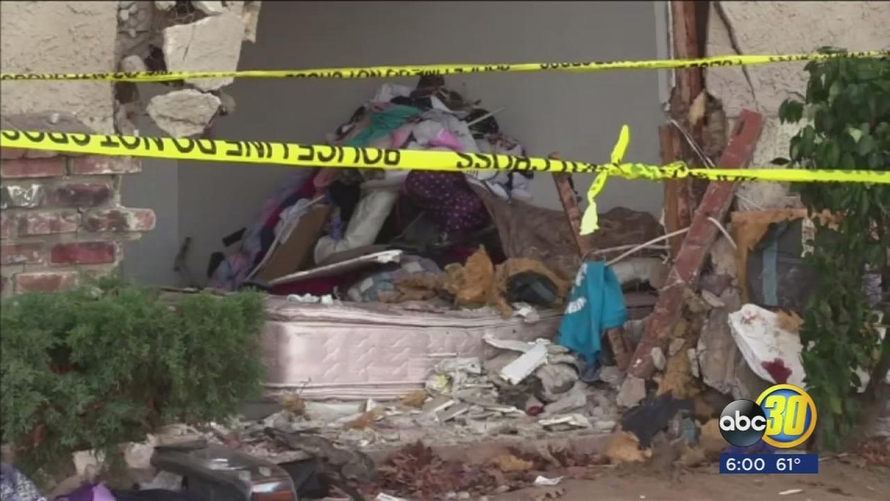 Man dies after driver of SUV crashes into his apartment in Madera