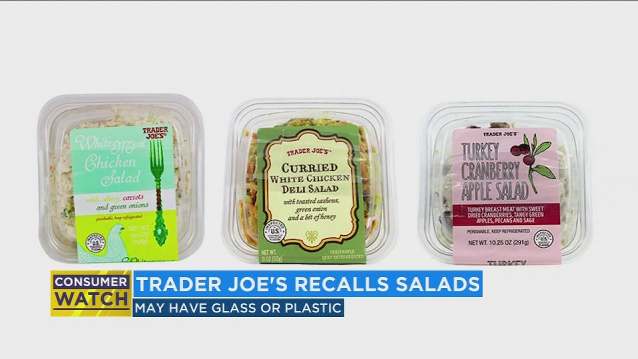 Trader Joes recalls salad that may have glass shards or hard plastic in them