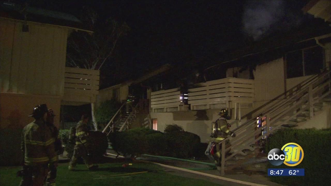 One family is without a home after a fire tore through apartment in Central Fresno