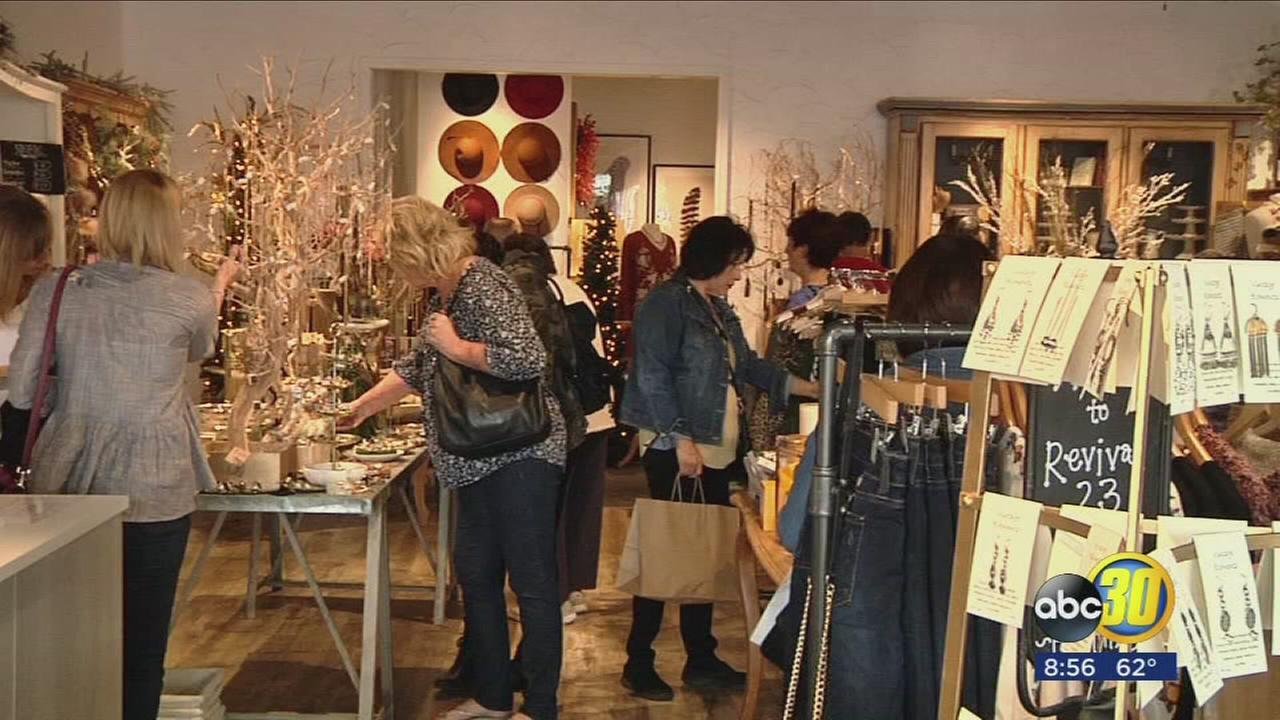 Shoppers celebrate Small Business Saturday in Old Town Clovis