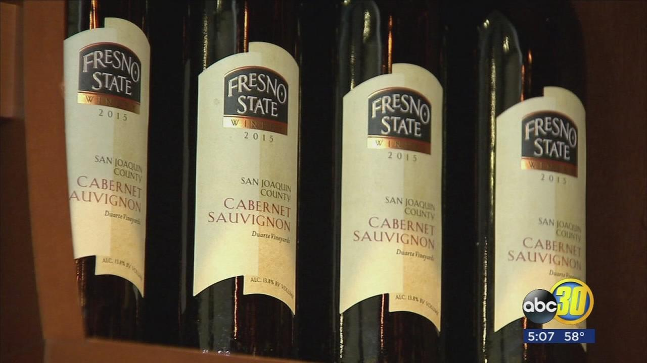 Bottling day at Fresno State, home of nations first commercial winery on a college campus