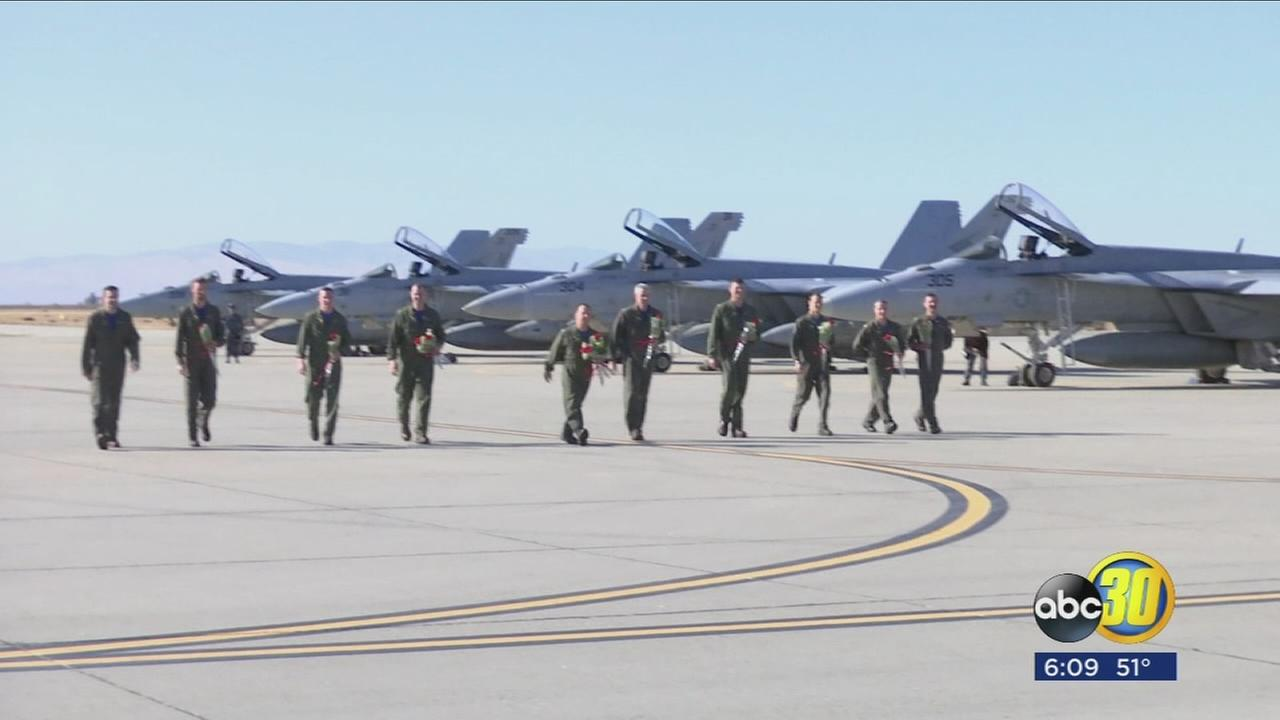 Lemoore Naval pilots return from deployment in time for holidays