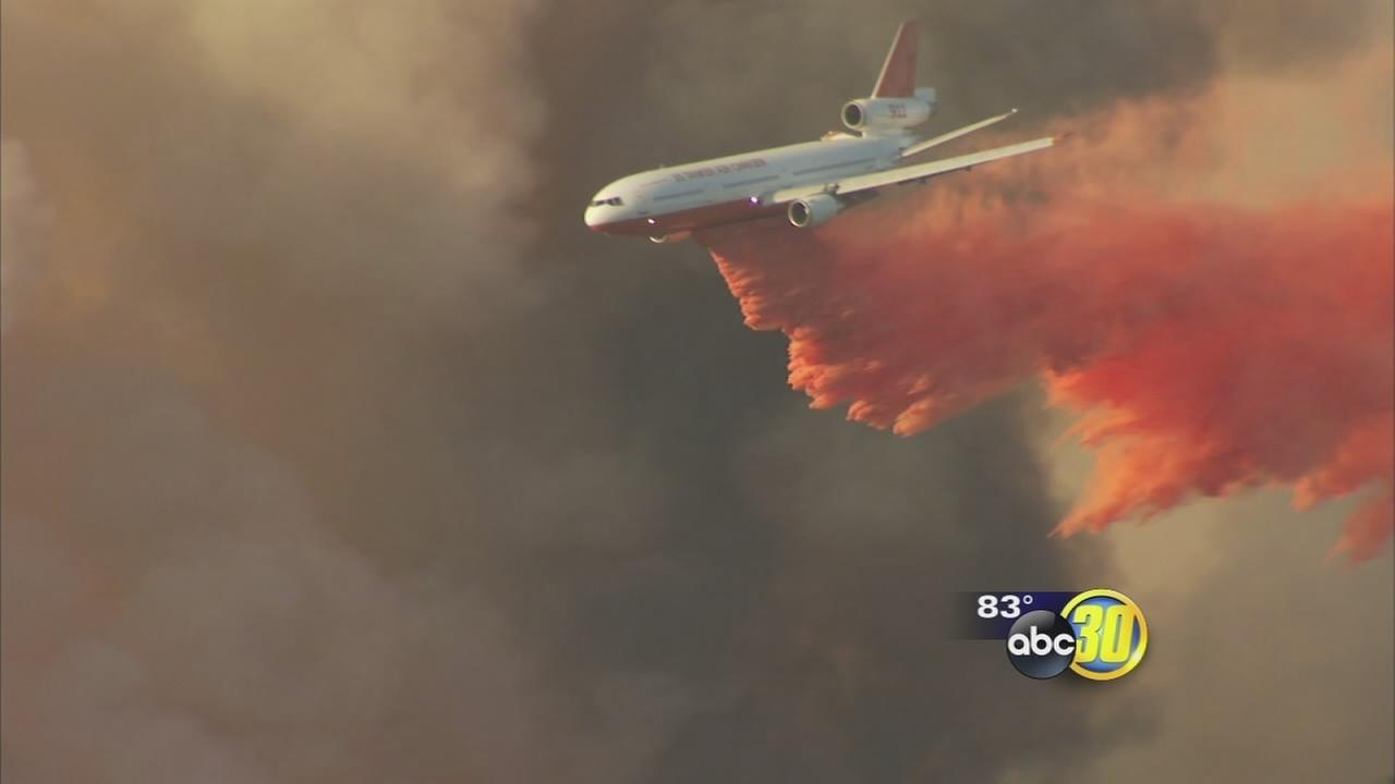 Locally-based air tankers credited for significant help in Junction Fire control