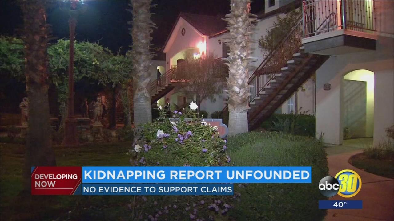 Kidnapping report unfounded