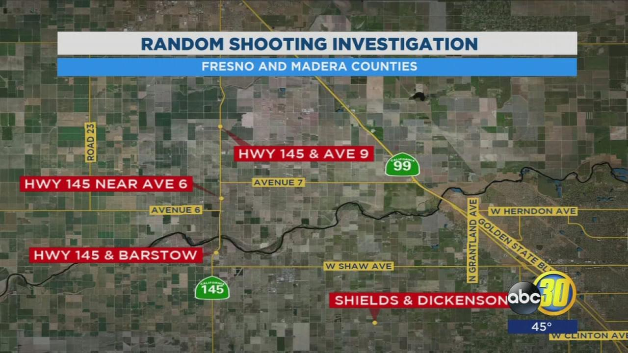 Random cars are being shot at in Fresno and Madera counties, authorities say