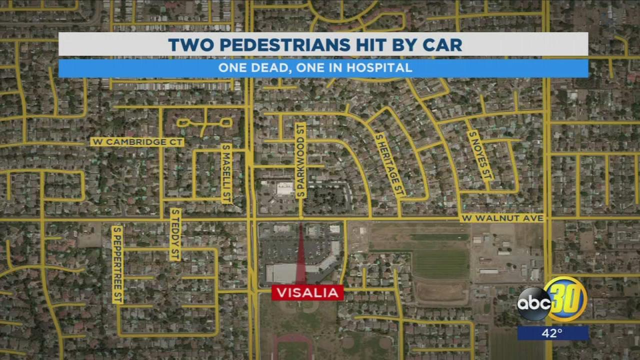 One dead, one hospitalized after being struck by a truck in Visalia