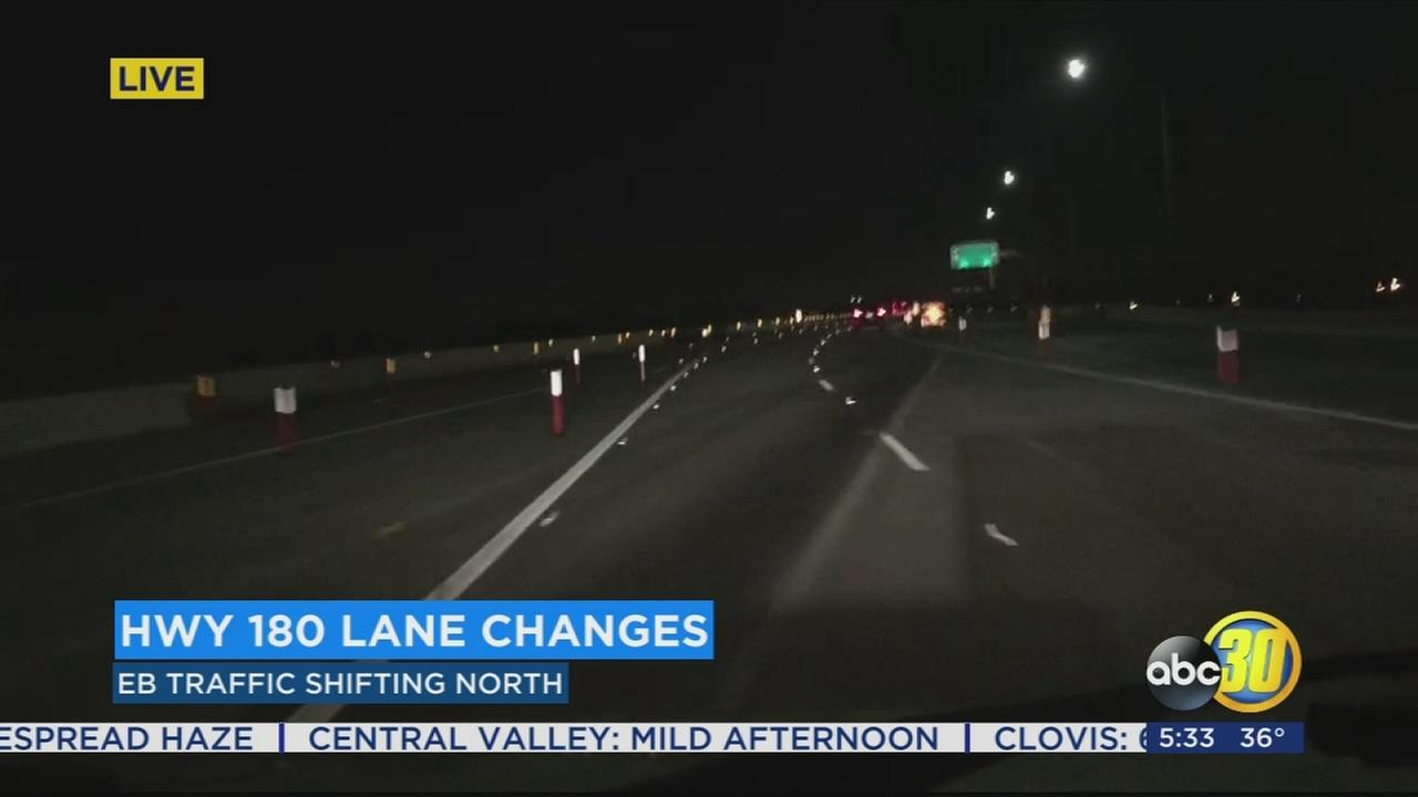 High-Speed Rail construction starts new traffic pattern on Highway 180
