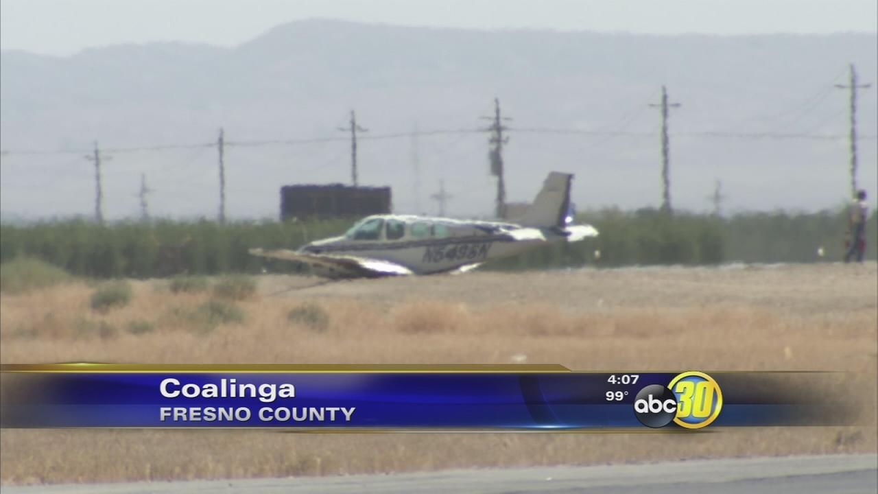 Small plane goes down at Harris Ranch Airport