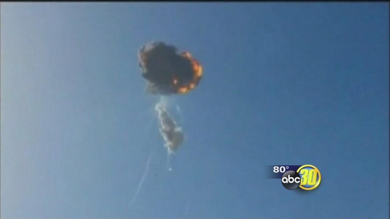 SpaceX rocket explodes during test flight