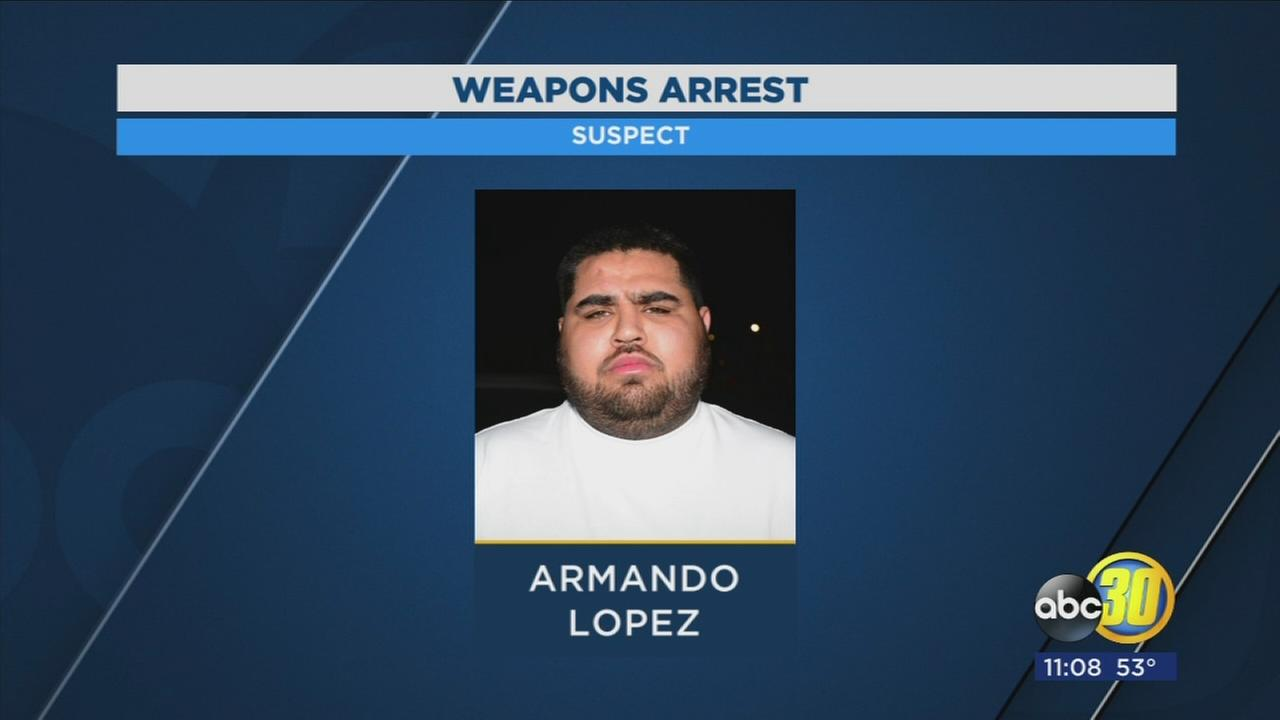 Gang member arrested during traffic stop for having stolen gun in Central Fresno