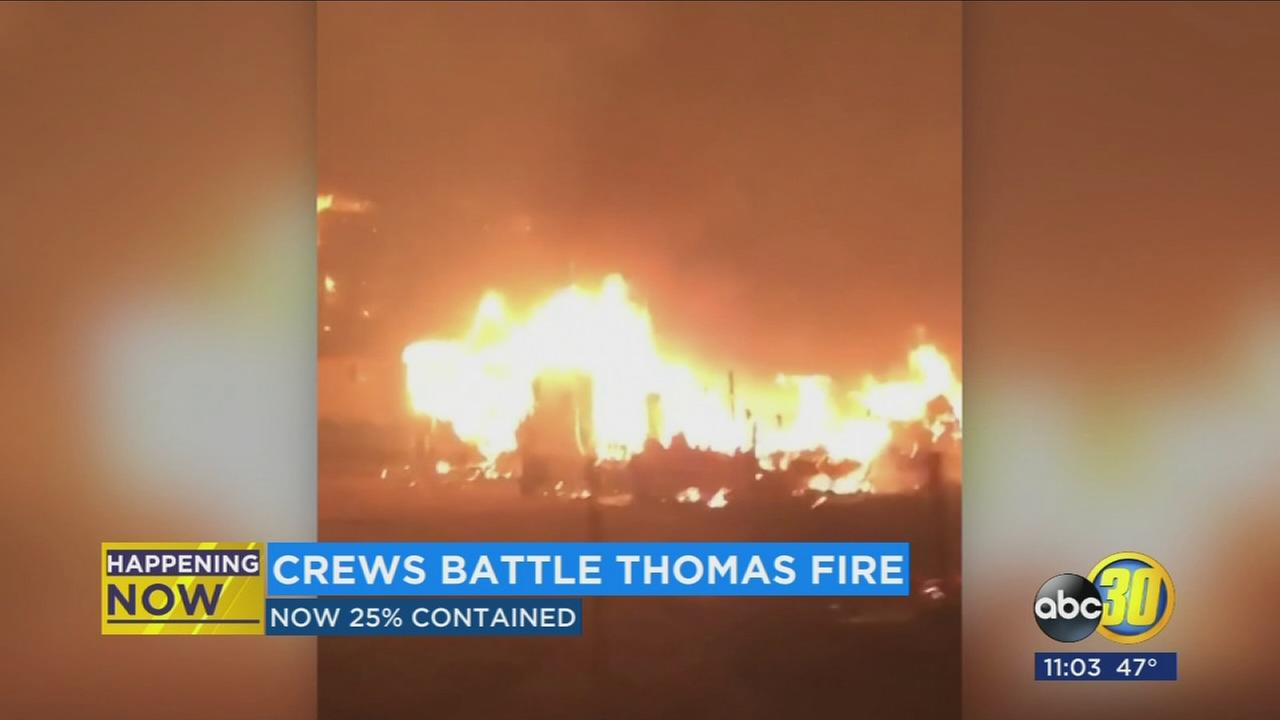 Fresno fire crews among those still battling Thomas Fire in SoCal