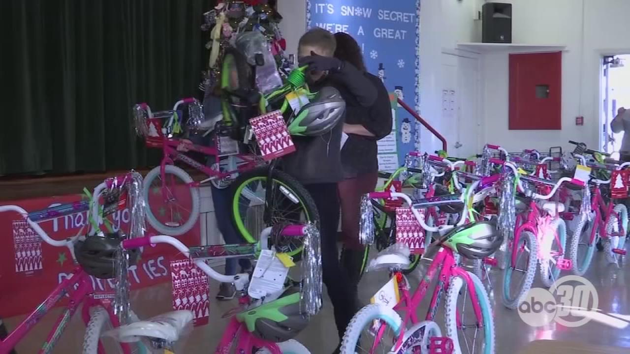 Over 50 Fresno elementary students receive new bikes donated by London Properties