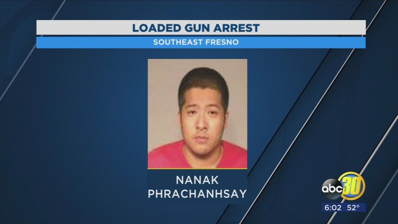 Gang member arrest shotgun
