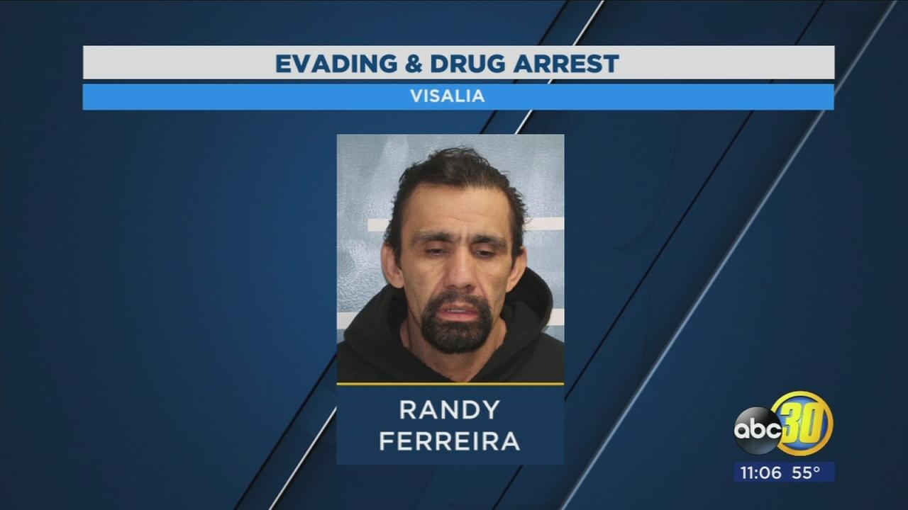 Visalia Police chase man through neighborhood, find narcotics and burglary tools in car
