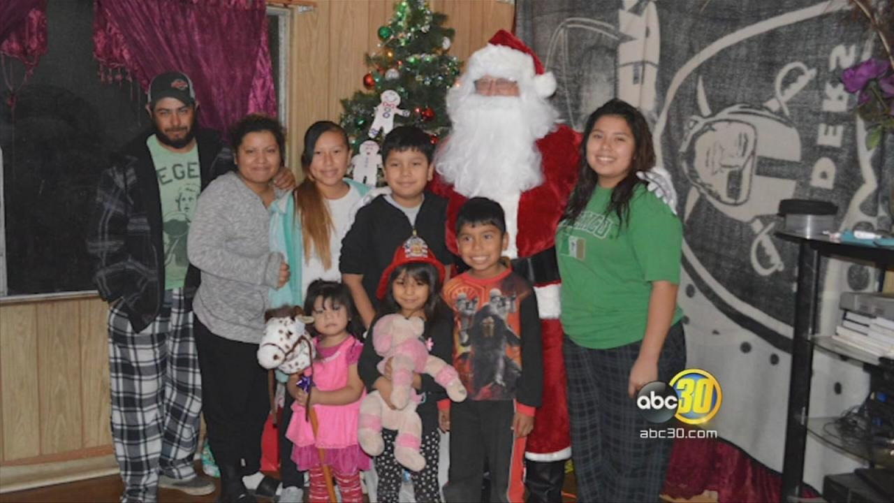 A Tulare family given a special early Christmas gift by Firefighters and local businesses