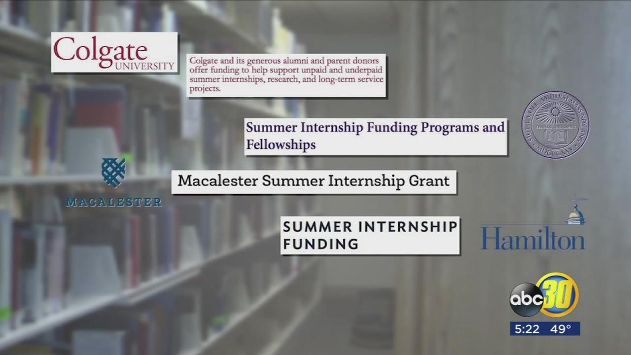 Some colleges now stepping up to the plate and helping students who are working unpaid internships