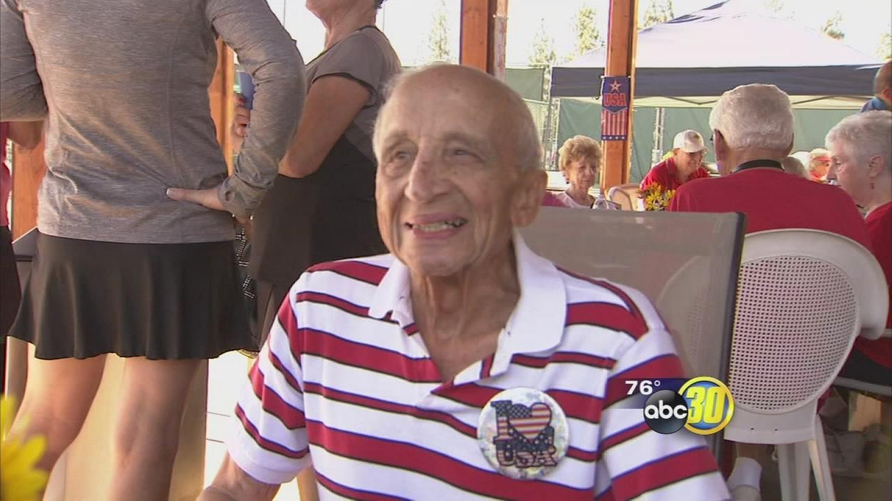 WWII veteran surprised with spot on Honor Flight