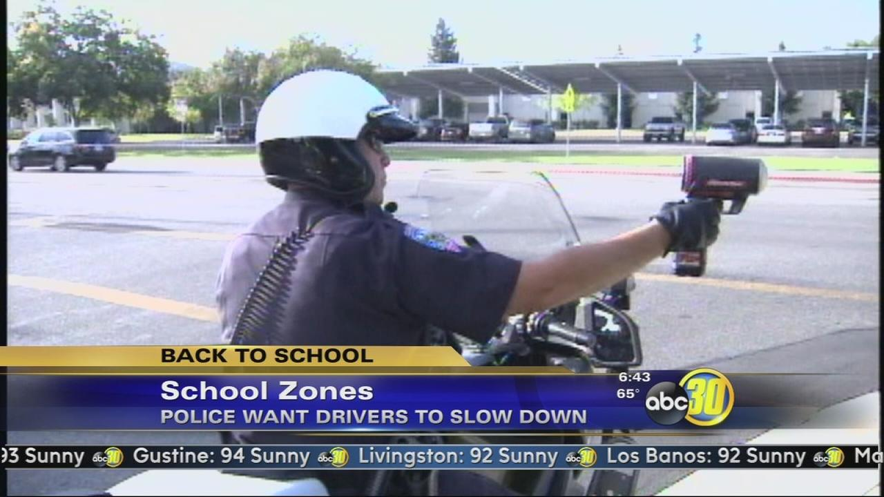 Police crack down on school zone traffic violations