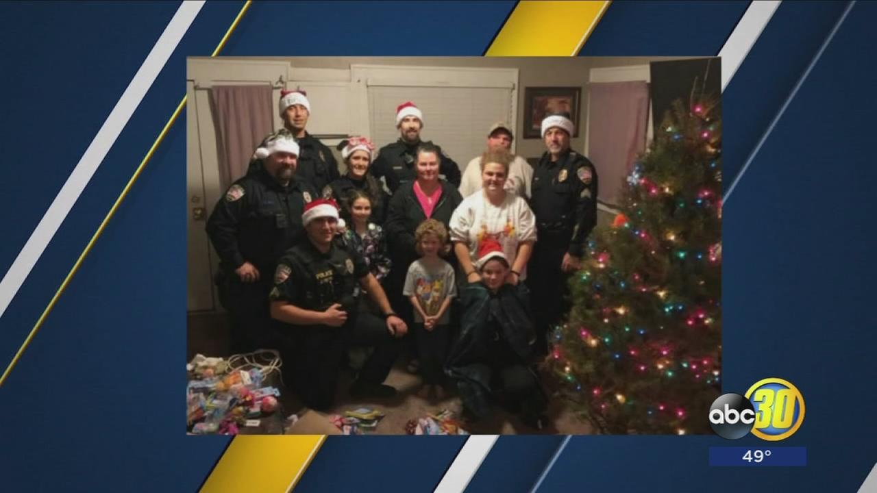 Lemoore Police officers make Christmas happen for family in need