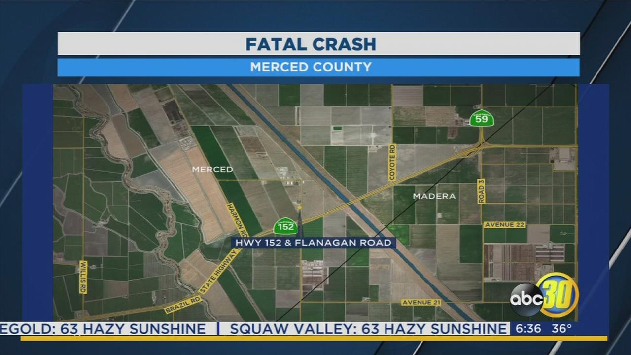 1 person dead after crash in Merced County