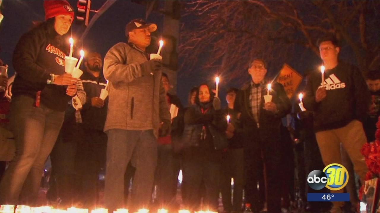 Fresno hit-and-run fatal vigil