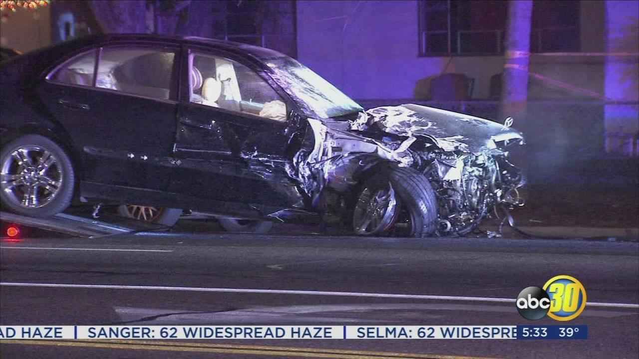Parolee arrested after series of crashes in Northwest Fresno