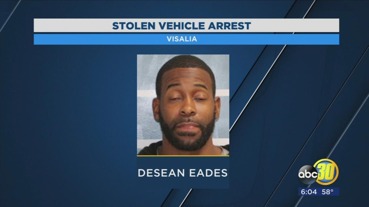 Man arrested for assaulting the driver, stealing their car in Visalia