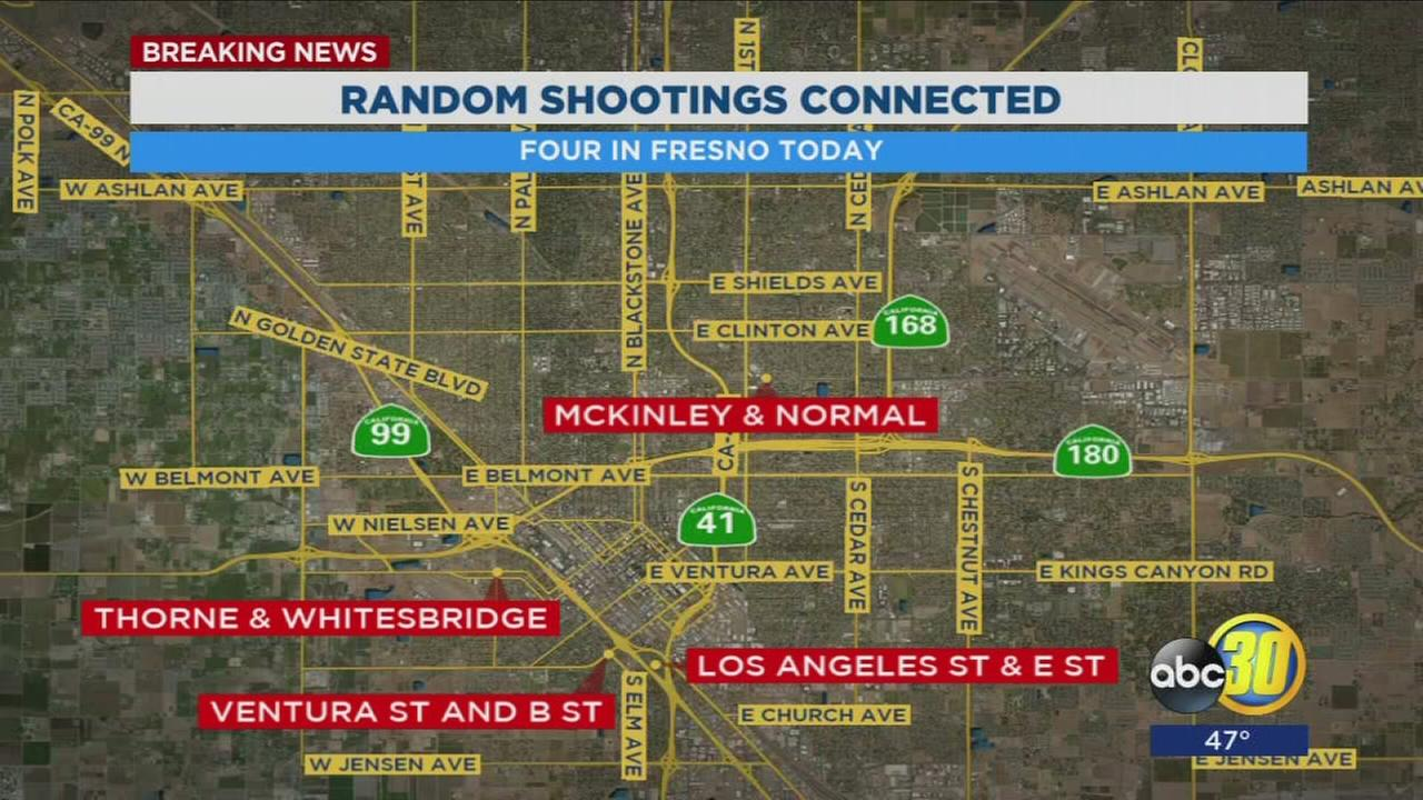 Police search for suspect after 3 injured in 4 random shootings within hours of each other