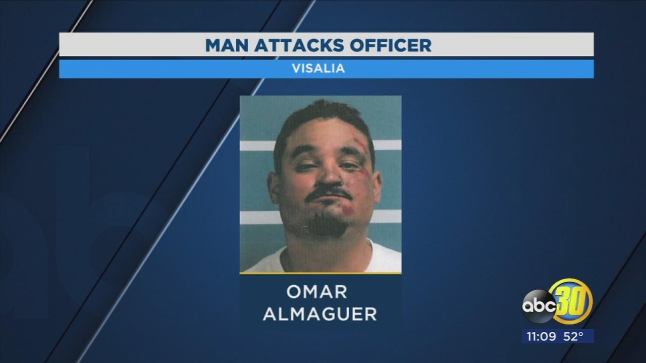 Fight in Visalia hotel lobby leaves suspect and officer injured
